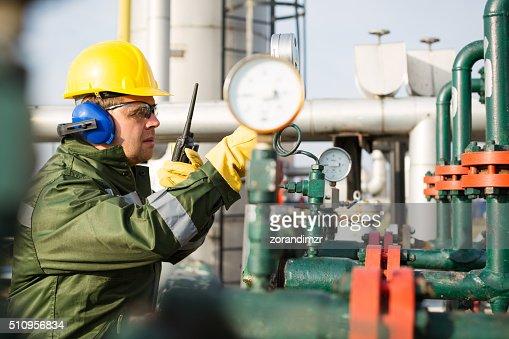 Gas Production Operator Stock Photo | Thinkstock