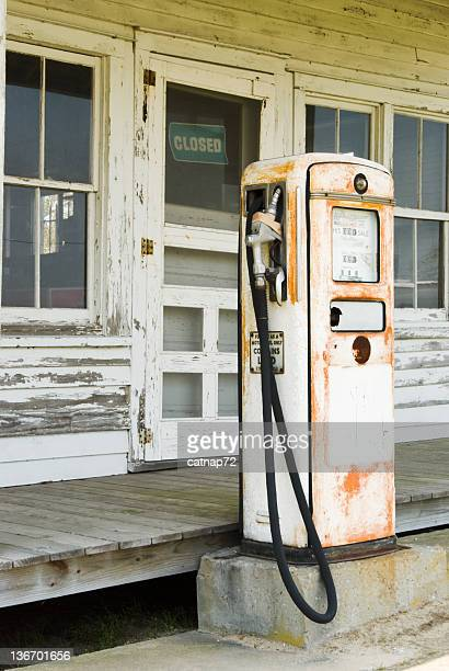 Gas Pump at an Old Country Store, Closed for Business