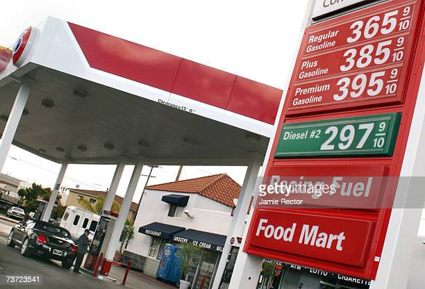 Gas Station advertises some of the highest prices in the country on March 27 2007 in Los Angeles California California surpassed Hawaii as the state...