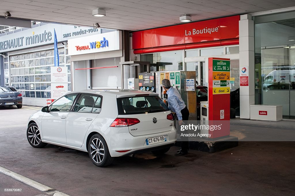 A gas station affected the strikes against the government's proposed labour law reforms, causing fuel shortages, in Paris, France on May 24, 2016. Protesters have disrupted supply lines from oil distribution depots in Normandy over proposed new labor reforms, causing fuel shortages in western France, local media reported Saturday. Some petrol stations in the country were affected after protesters blocked main roads through which oil products get shipped.
