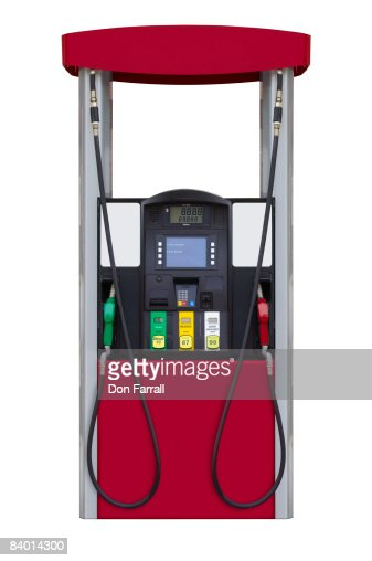 Gas Station Fuel Pump Stock Photo