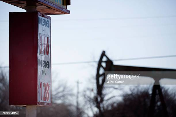 A gas station near an oil well pumper was selling gas for $116 a gallon February 12 2016 in Oklahoma City Oklahoma Earlier this week gas stations...
