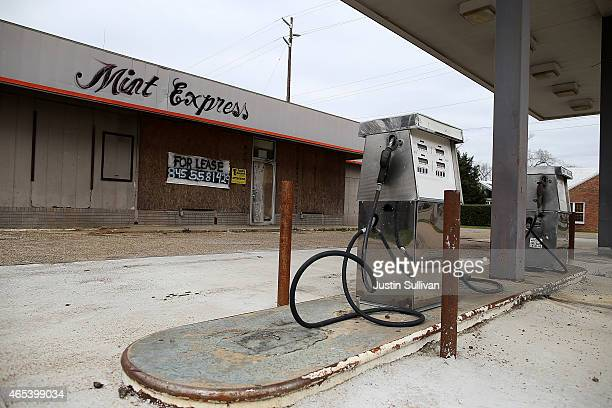 A gas station sits vacant on March 6 2015 in Selma Alabama 50 years after the historic civil rights march from Selma to Montgomery where marchers...