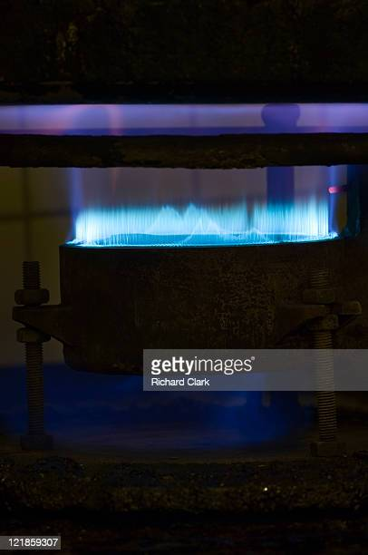 Gas stove burner on high power
