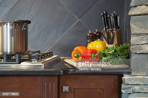 Gas stove : Stock Photo