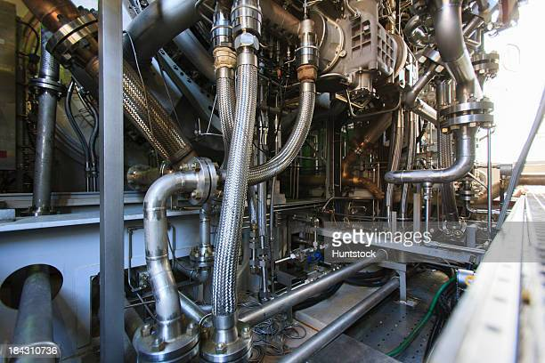 Gas turbine engine at an electricity cogeneration plant