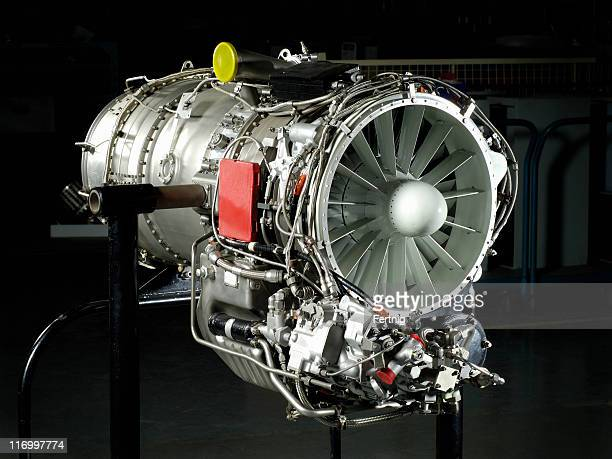 Gas turbine engine on stand