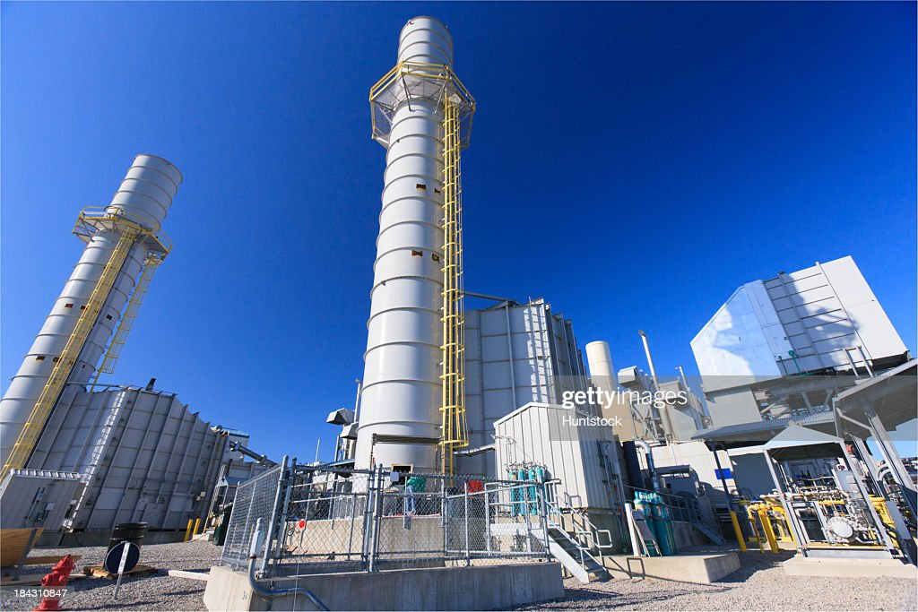 Gas turbine exhaust stack at an Electric cogeneration plant