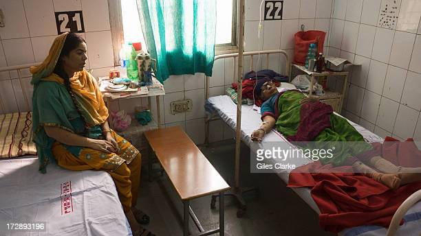 Gas victims languish in the poorly funded and ill equipped Shakir Ali Khan Hospital a staterun 'gas hospital' December 3 2012 in Bhopal India On the...