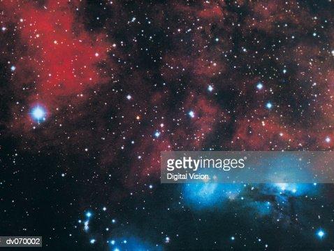 Gaseous nebula in Cygnus : Stock Photo