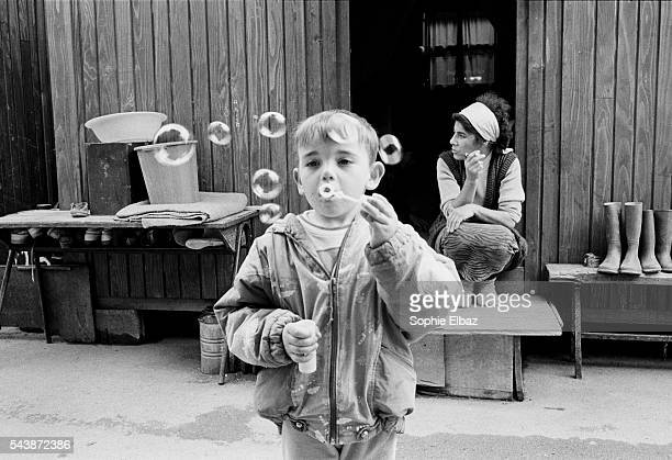 Gasinci is Croatia's biggest refugees camp with more than 3200 Muslim Bosnians Amir a child of the camp has never seen his father who is fighting on...