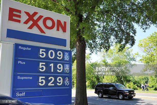 Gasoline prices of $509 USD displayed at an Exxon station in Washington DC on May 5 2011 According to AAAcom the national average is $399 per gallon...