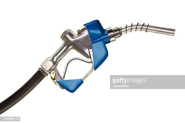 Gasoline Pump Nozzle on Pure White Background