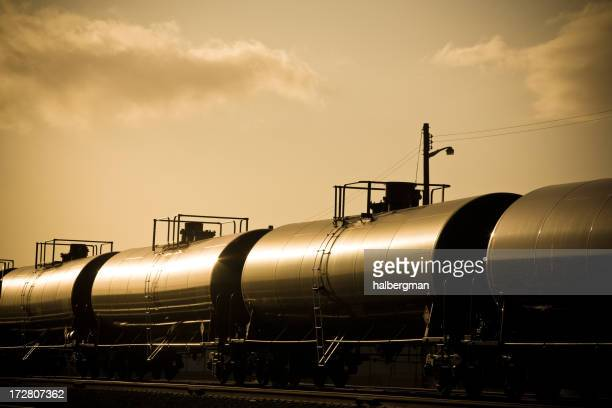 Gasoline Train at Sunset