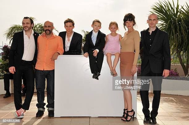 Gaspar Noe Paz de la Huerta Nathaniel Brown Emily Alyn Lind Jesse Kuhn and Cyril Roy at the photo call of 'Enter The Void' during the 62nd Cannes...