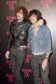 Gaspard Auge and Xavier de Rosnay of Justice arrive at the Belvedere IX Launch Party on February 5 2009 in Hollywood California