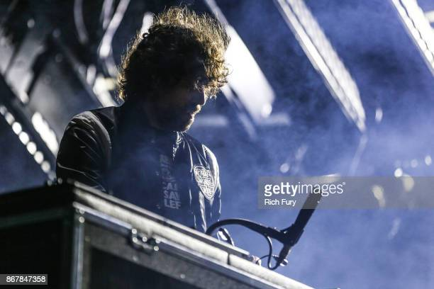Gaspard Auge of Justice performs on the Flog Stage during day 1 of Camp Flog Gnaw Carnival 2017 at Exposition Park on October 28 2017 in Los Angeles...