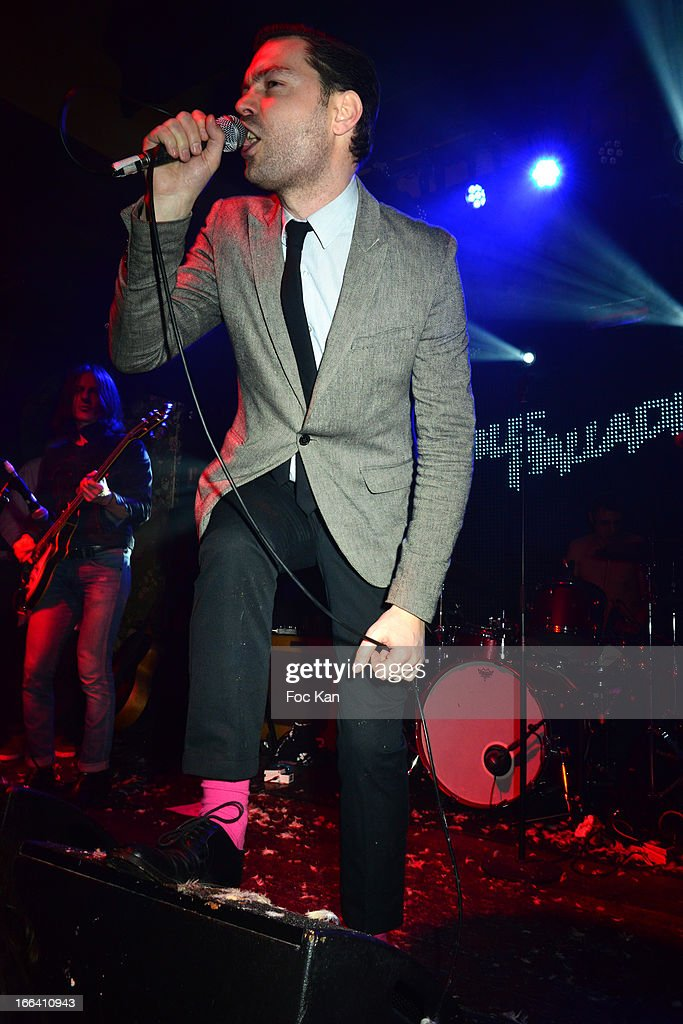 Gaspard Royant performs during he Bus Palladium 3rd Anniversary Party at the Bus Palladium Club on April 11, 2013 in Paris, France.