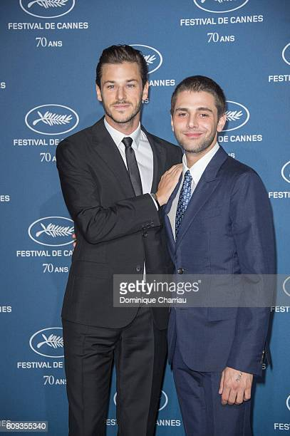 Gaspard Ulliel and Xavier Dolan attend the Cannes Film Festival 70th Anniversary Party at Palais Des Beaux Arts on September 20 2016 in Paris France