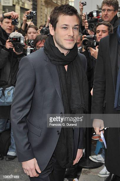 Gaspard Ulliel arrives at Pavillon Cambon to attend the Chanel show as part of the Paris Haute Couture Fashion Week Spring/Summer 2011 at Pavillon...