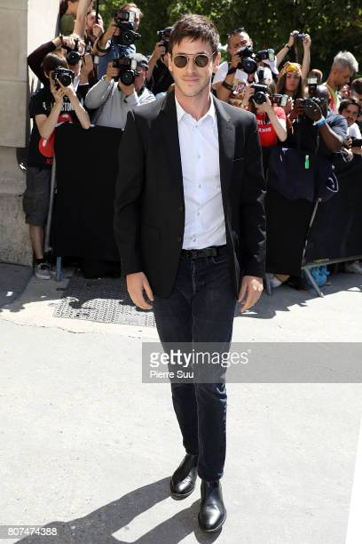 Gaspard Ulliel arrives at the Chanel Haute Couture Fall/Winter 20172018 show as part of Haute Couture Paris Fashion Week on July 4 2017 in Paris...