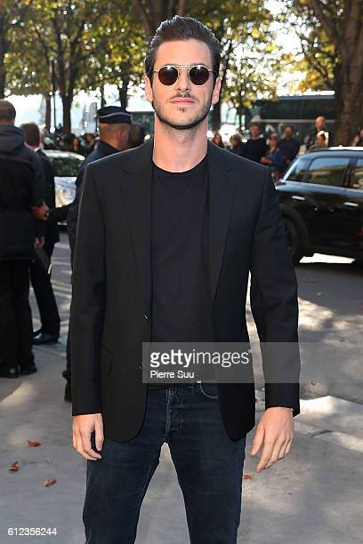 Gaspard Ulliel arrives at the Chanel show as part of the Paris Fashion Week Womenswear Spring/Summer 2017 on October 4 2016 in Paris France