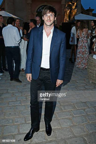 Gaspard Ulliel attends a cocktail reception during The Leonardo DiCaprio Foundation 2nd Annual SaintTropez Gala at Domaine Bertaud Belieu on July 22...
