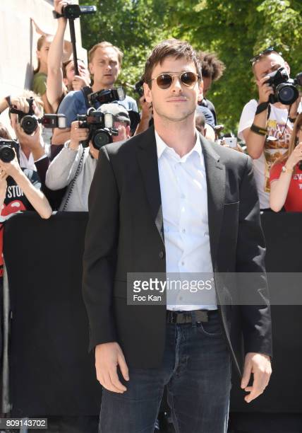 Gaspard Ulliel attends the Chanel Haute Couture Fall/Winter 20172018 show as part of Paris Fashion Week on July 4 2017 in Paris France