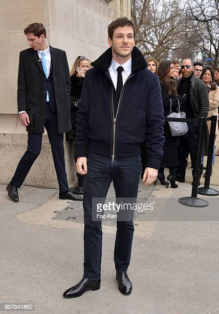 Gaspard Ulliel attends the Chanel Haute Couture Spring Summer 2016 show as part of Paris Fashion Week on January 26 2016 in Paris France