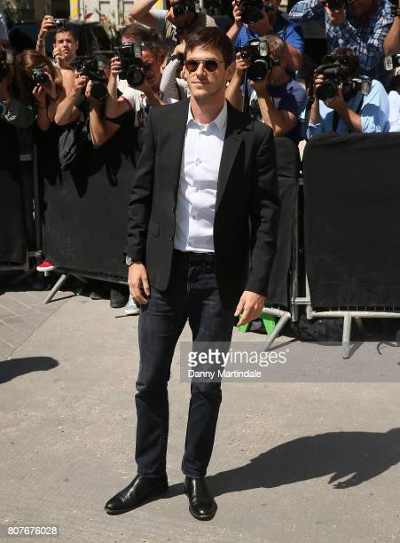 Gaspard Ulliel attends the 'Chanel' show during Paris Fashion Week Haute Couture Fall/Winter 20172018 on July 4 2017 in Paris France