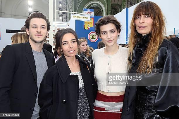 Gaspard Ulliel Elodie Bouchez Alma Jorodowski and Caroline de Maigret attend the Chanel show as part of the Paris Fashion Week Womenswear Fall/Winter...
