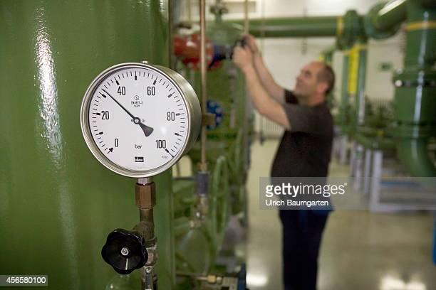 A gaspressure regulator station is a system for economic pressure reduction of gas from extraction to the ultimate consumer Interior view of the...