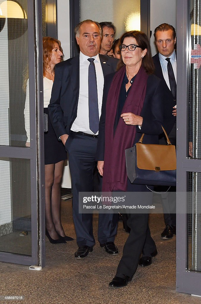 CEO Gassan Diamonds Benno Leeser and Princess Caroline of Hanover attend a visit at the Gassan Diamonds factory on November 7, 2014 in Amsterdam, Netherlands.