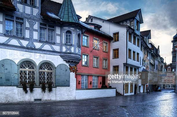 Gasse am Klosterplatz in St. Gallen, Schweiz