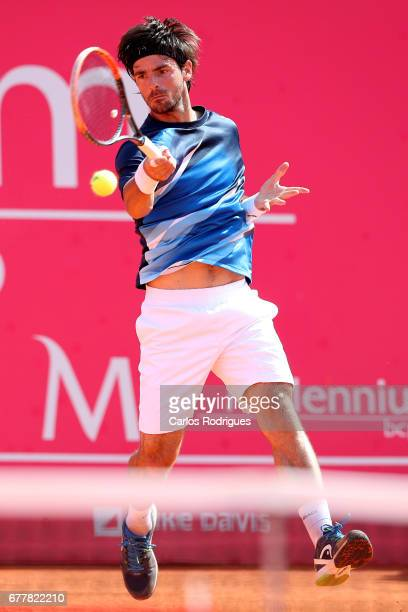 Gastao Elias From Portugal in action during the match between Gastao Elias From Portugal and Nicolas Almagro From Spain during the Millennium Estoril...