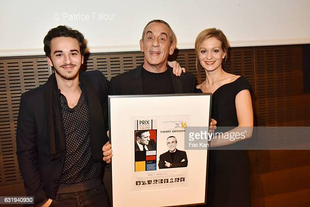 Gaston Ardisson TV presenter Thierry Ardisson and his wife TV presenter Audrey CrespoMara attend the Philippe Caloni 2016 Award Ceremony for the Best...