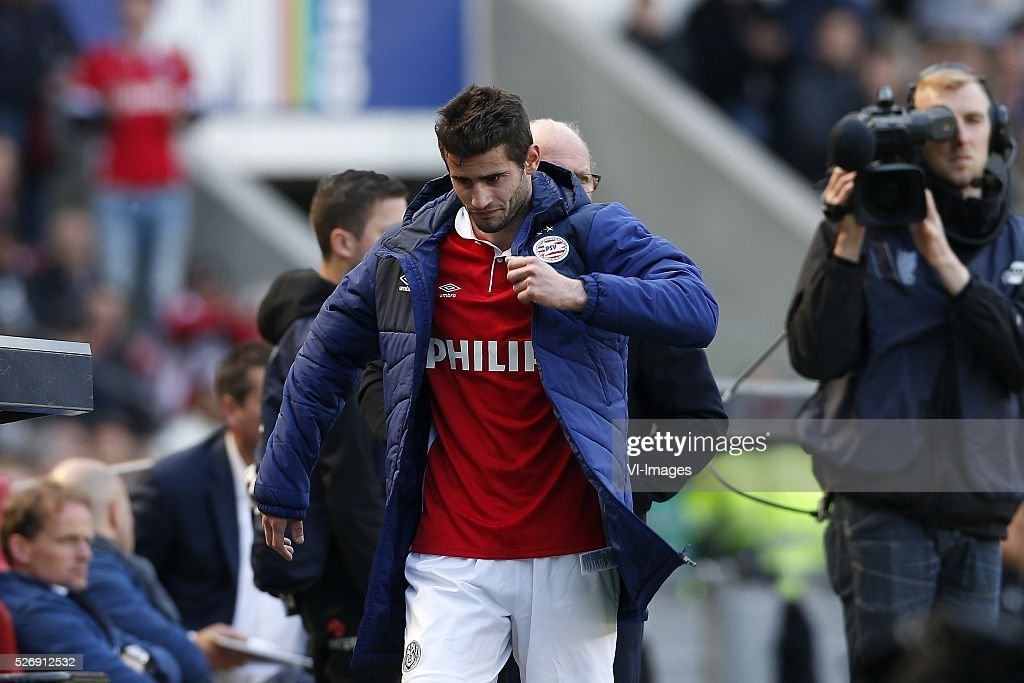 Gaston Pereiro of PSV during the Dutch Eredivisie match between PSV Eindhoven and SC Cambuur Leeuwarden at the Phillips stadium on May 01, 2016 in Eindhoven, The Netherlands