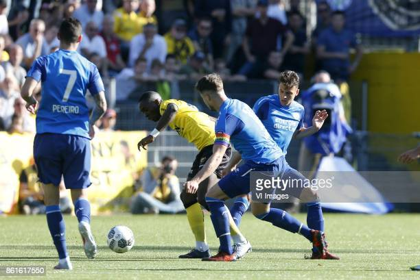 Gaston Pereiro of PSV Jerold Promes of VVVVenlo Marco van Ginkel of PSV Santiago Arias of PSV during the Dutch Eredivisie match between VVV Venlo and...