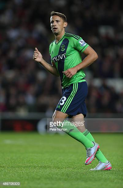 Gaston Ramirez of Southampton in action during the Capital One Cup Third Round match between MK Dons and Southampton at Stadium mk on September 23...