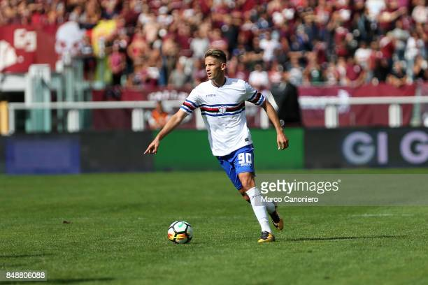 Gaston Ramirez of UC Sampdoria in action during the Serie A football match between Torino Fc and Uc Sampdoria