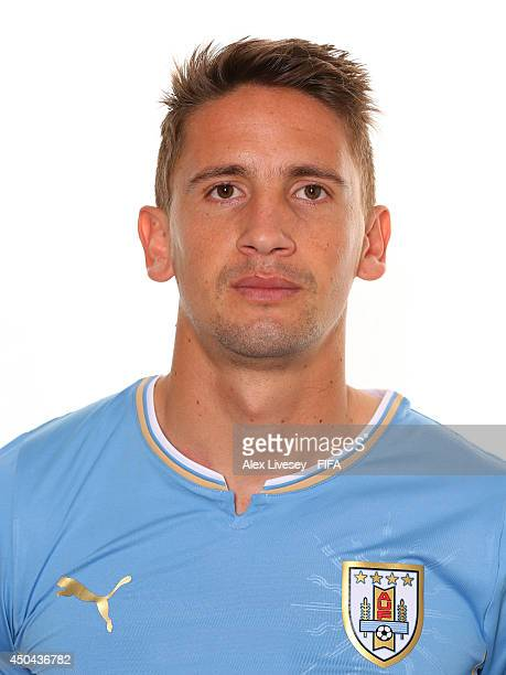 Gaston Ramirez of Uruguay poses during the official FIFA World Cup 2014 portrait session on June 10 2014 in Belo Horizonte Brazil