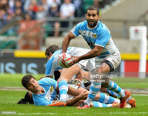 Gaston Revol captain of Argentina during the cup quarter final match between South Africa and Argentina on day 2 of the HSBC World Rugby Sevens...