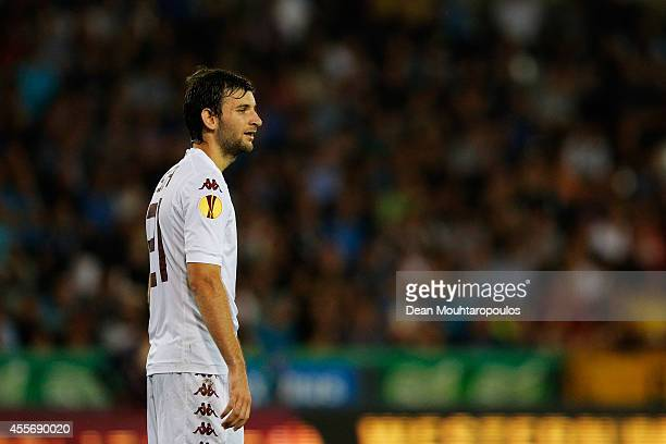 Gaston Silva of Torino in action during the Group B UEFA Europa League match between Club Brugge KV and Torino FC at the Jan Breydelstadion on...