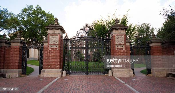 Gate at entrance to Brown University in Providence, Rhode Island
