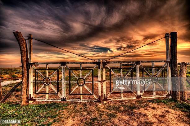 Gate at sunset