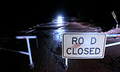 A gate closes the road as it crosses Short Creek on Hildale Street on September 15 2015 in Hildale Utah Flash Floods from heavy rains on the...