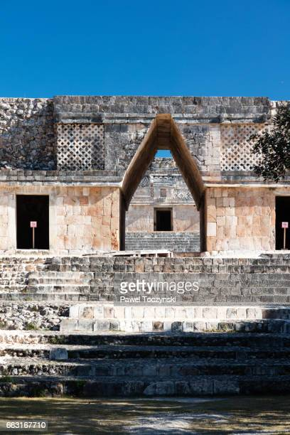 Gate in the Nunnery Quadrangle, Uxmal Mayan site, Mexico