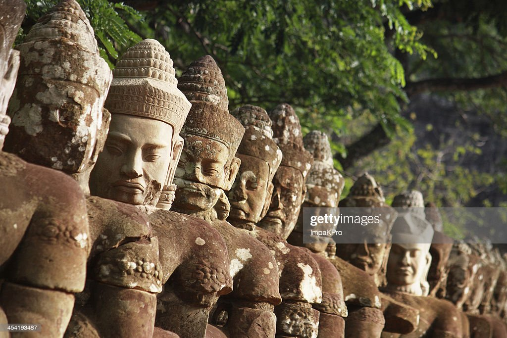 Gate of Angkor Thom : Stock Photo