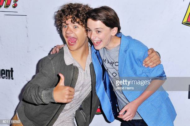 Gaten Matarazzo and Noah Schnapp arrive at Entertainment Weekly's Annual ComicCon Party at Float at Hard Rock Hotel San Diego on July 22 2017 in San...