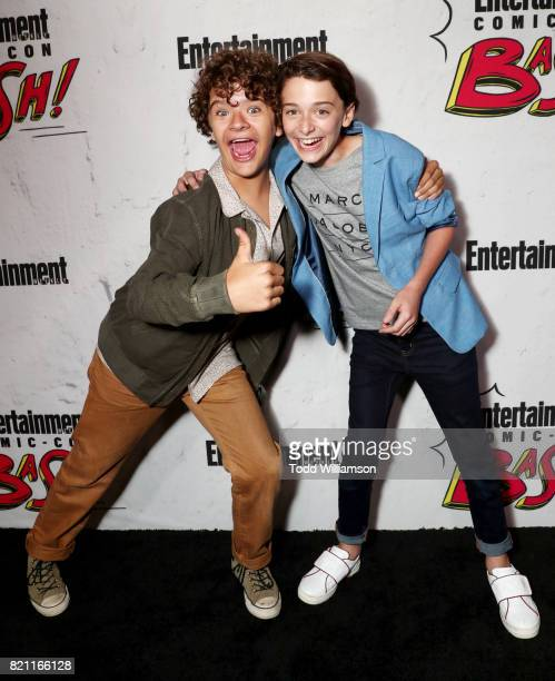 Gaten Matarazzo and Noah Schnapp at Entertainment Weekly's annual ComicCon party in celebration of ComicCon 2017 at Float at Hard Rock Hotel San...